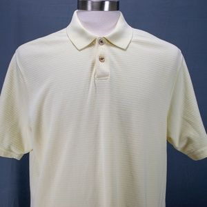 Geoffrey Beene Mens Golf Polo Shirt Sz L Yellow